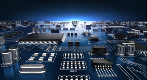 image d'un circuit imprimé en 3D