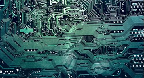 Gros plan sur un circuit imprimé