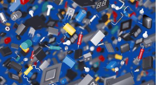 さまざまなPCBコンポーネントの3D画像