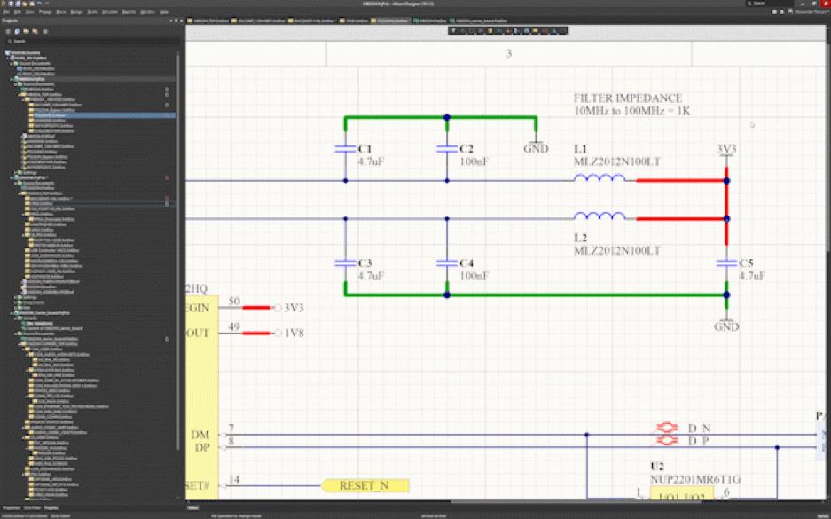 Duplication des symboles des schémas de circuits imprimés : Shift + Click & Drag (Maj + Cliquer & déplacer