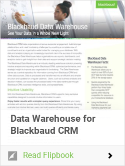 Data Warehouse for Blackbaud CRM