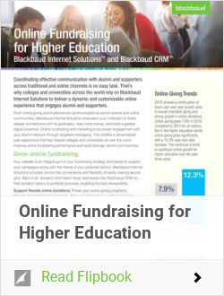 Online Fundraising for Higher Education