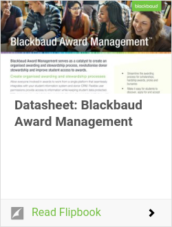 Datasheet: Blackbaud Award Management