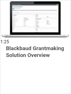 Blackbaud Grantmaking Solution Overview