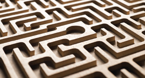 ServiceNow Best Practices for ITSM Managers blog image of a wooden labyrinth