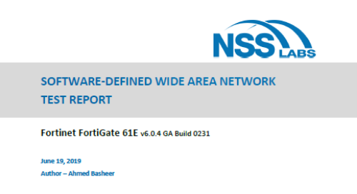 2019 NSS Labs SD-WAN Test Report