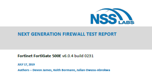 2019 NSS Labs NGFW Test Report