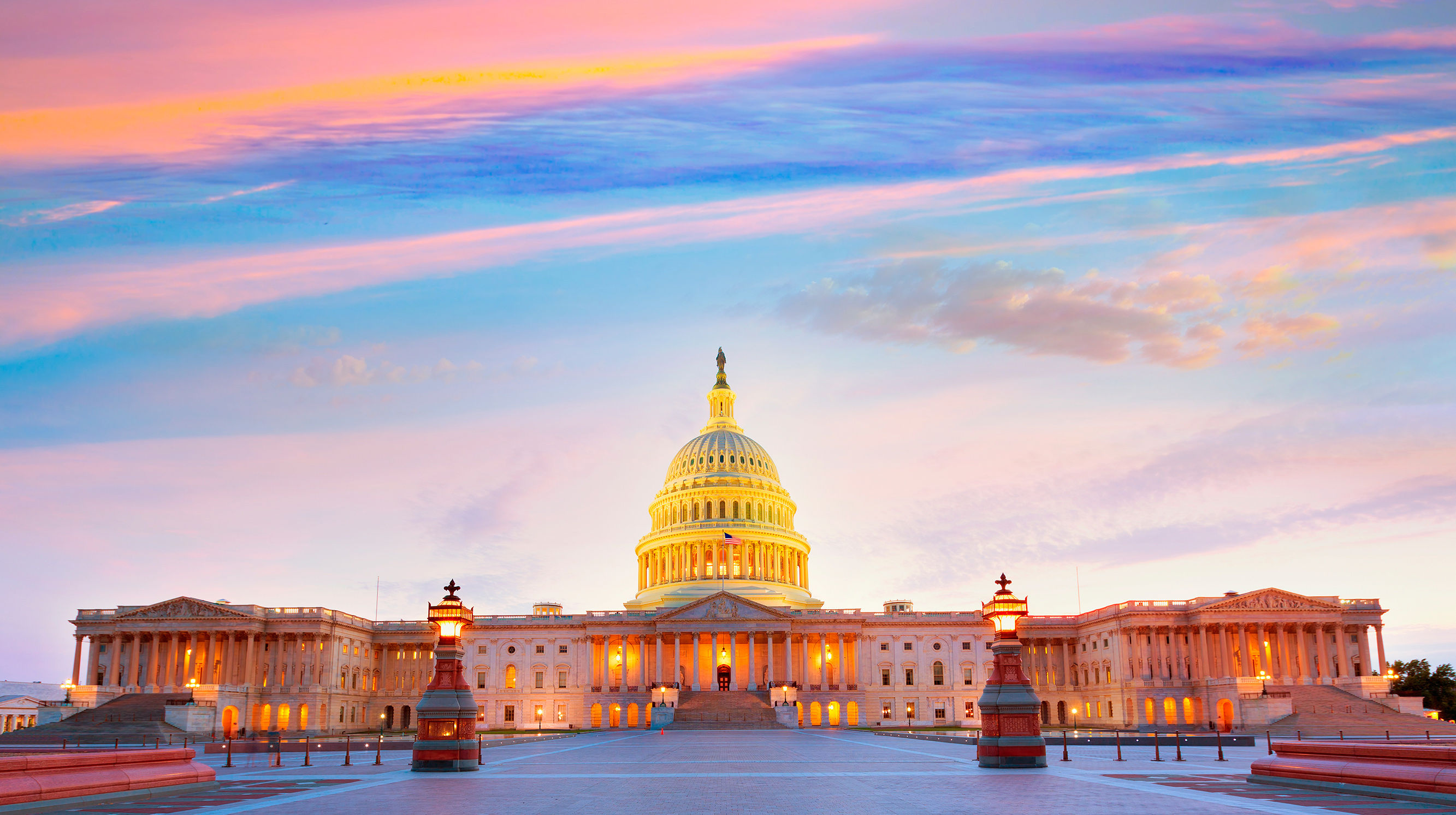 United States Capitol Building at Sunset
