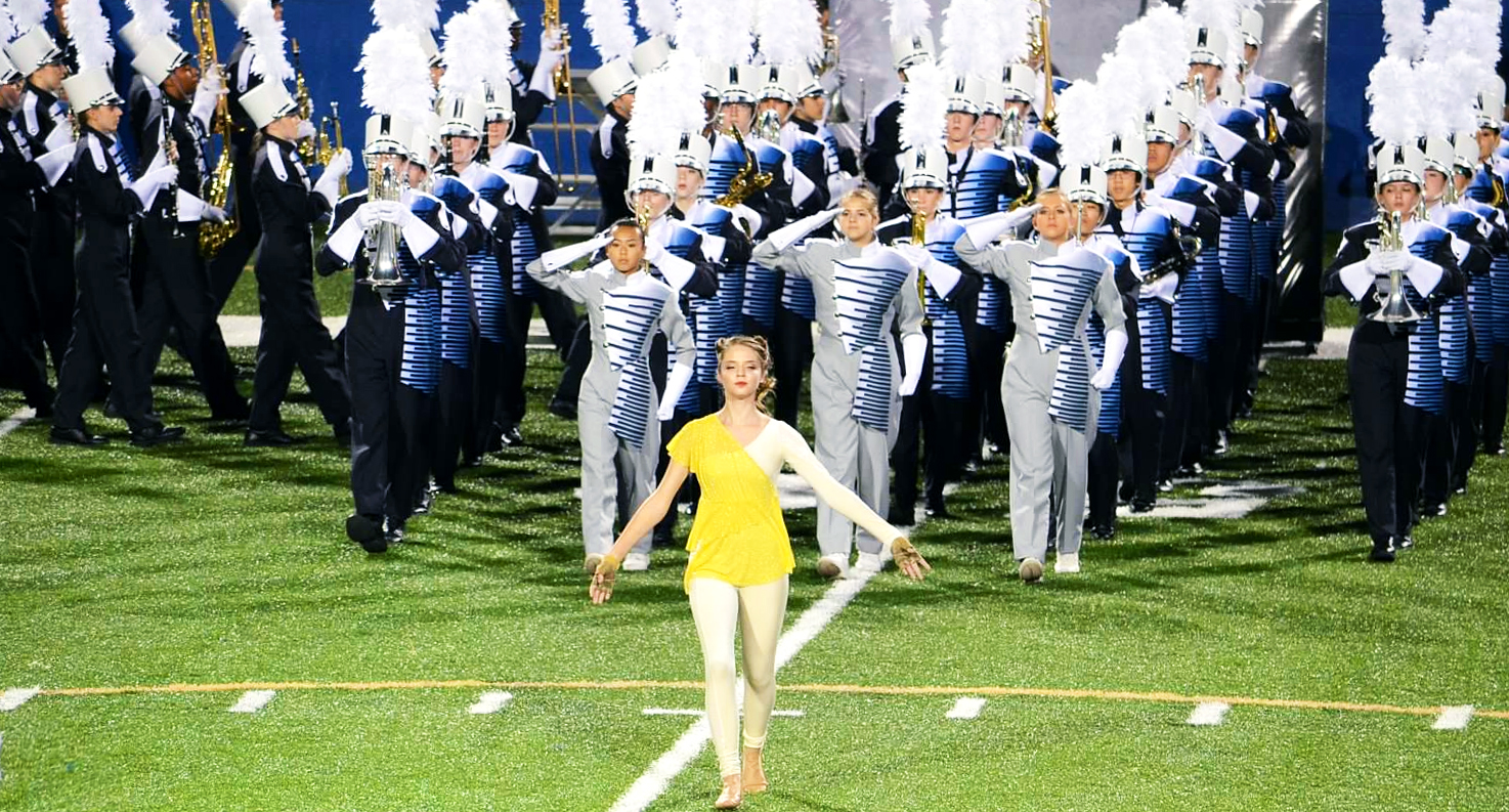 Pope High School Marching Band on sports field