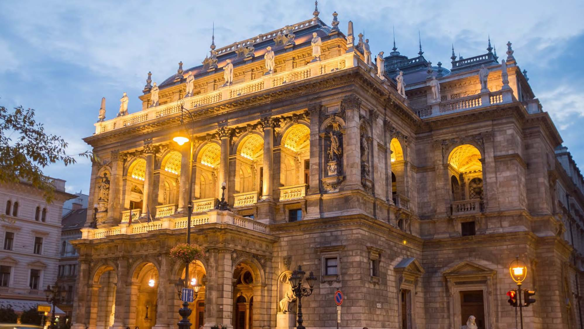 The Hungarian State Opera House in Budapest, Hungary