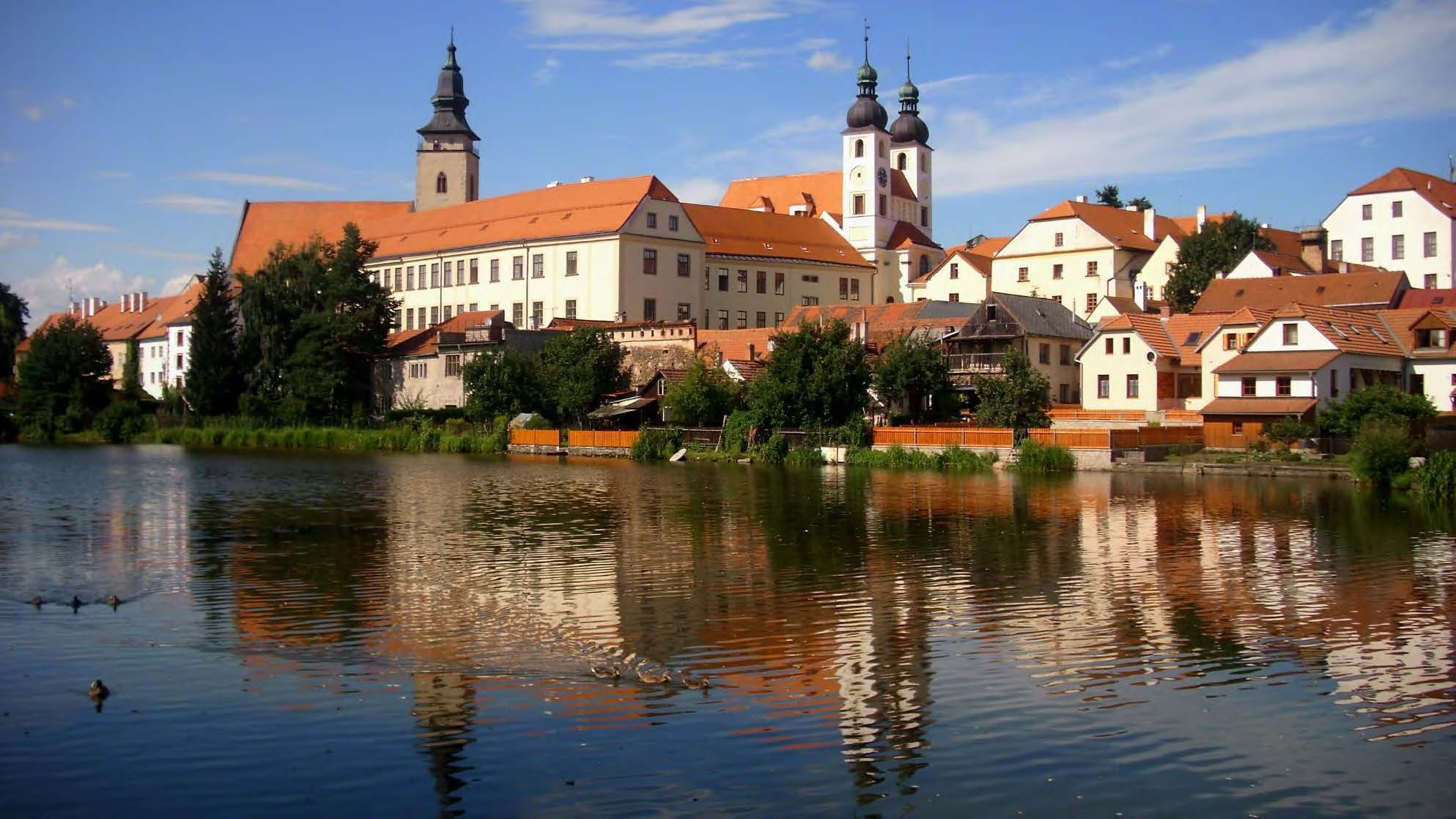 The town of Telč in the Czech Republic