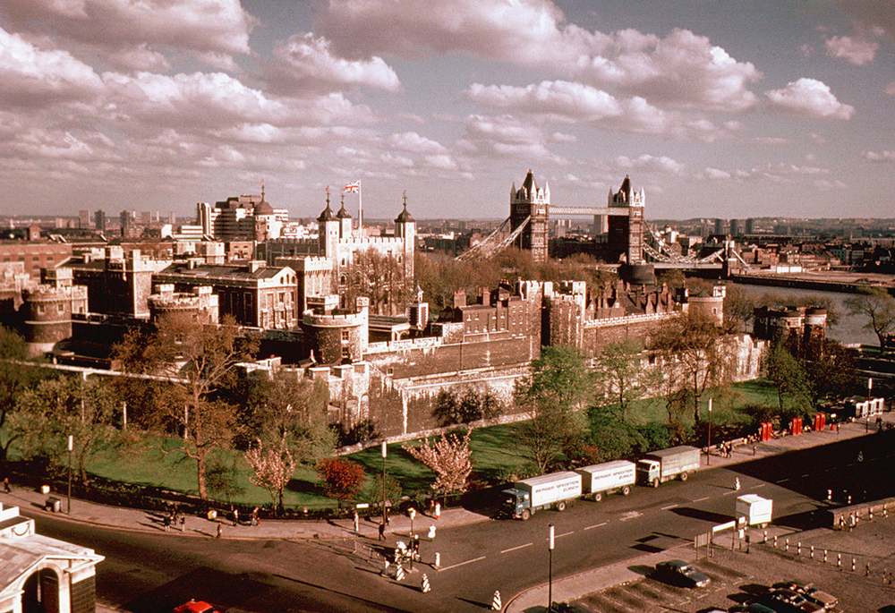 Vintage photo of the Tower of London from 1965   Photo Credit: maleny_steve/Flickr