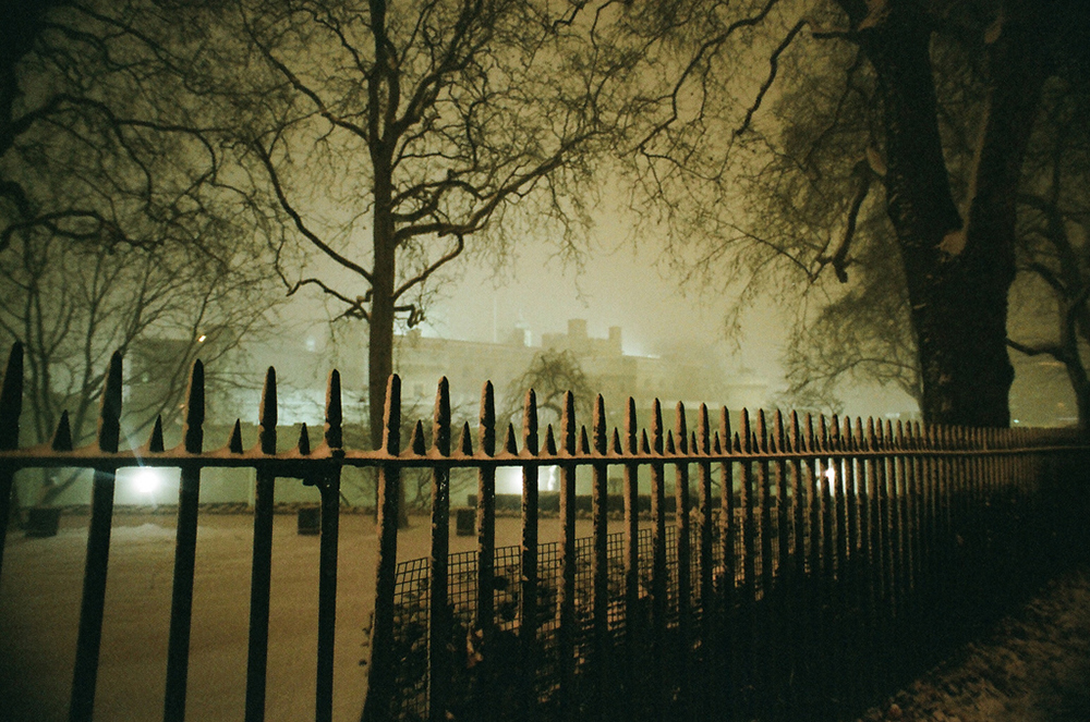 Tower of London from a distance on a foggy night | Photo Credit: king-edward/Flickr