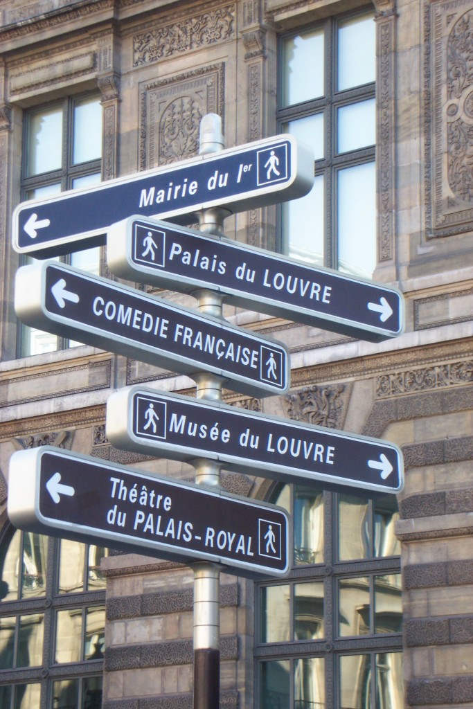 Street signs in Paris, France