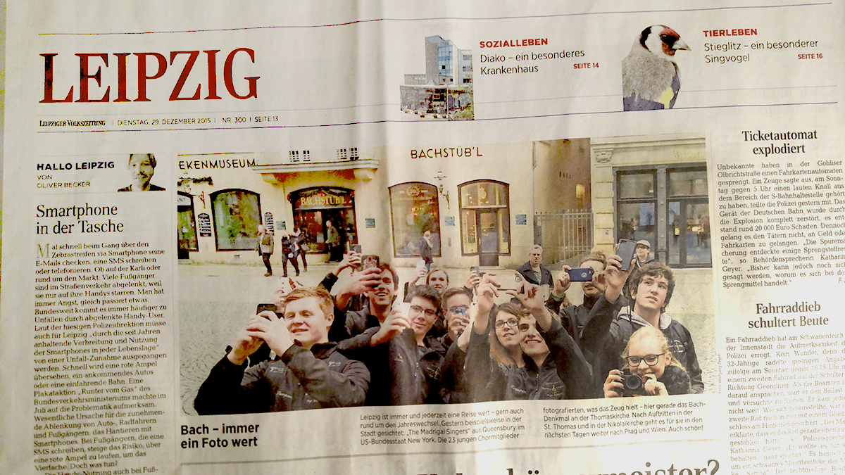 Newspaper from Leipzig, Germany