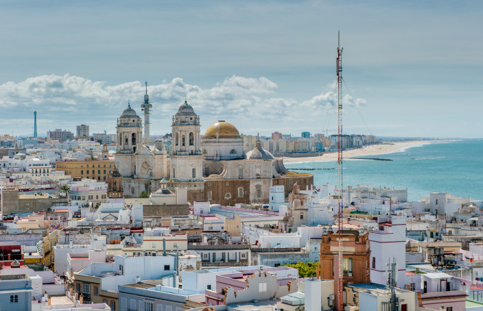 Panoramic view of Cadiz