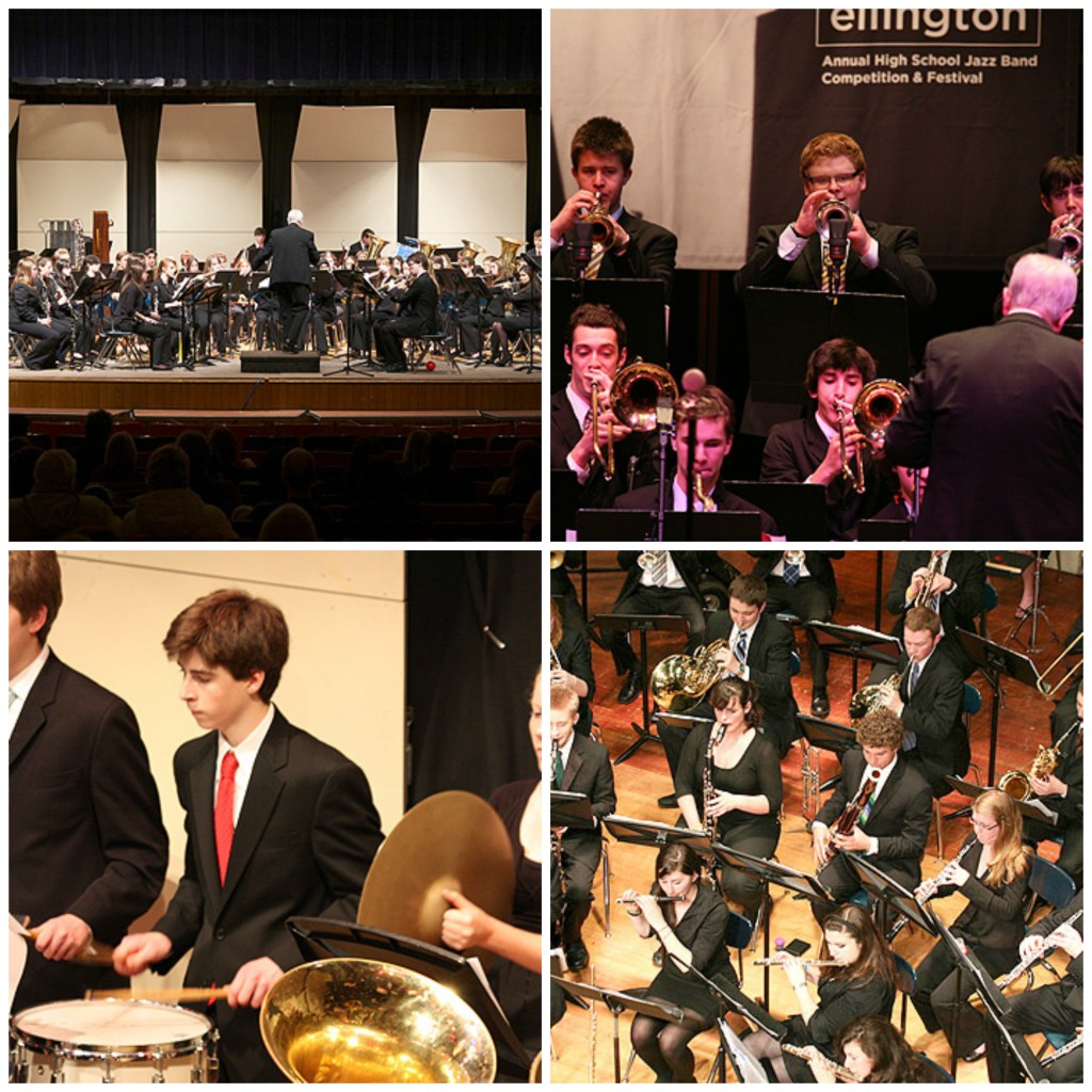 Foxborough Jazz Band competing at an annual high school jazz band competition and festival