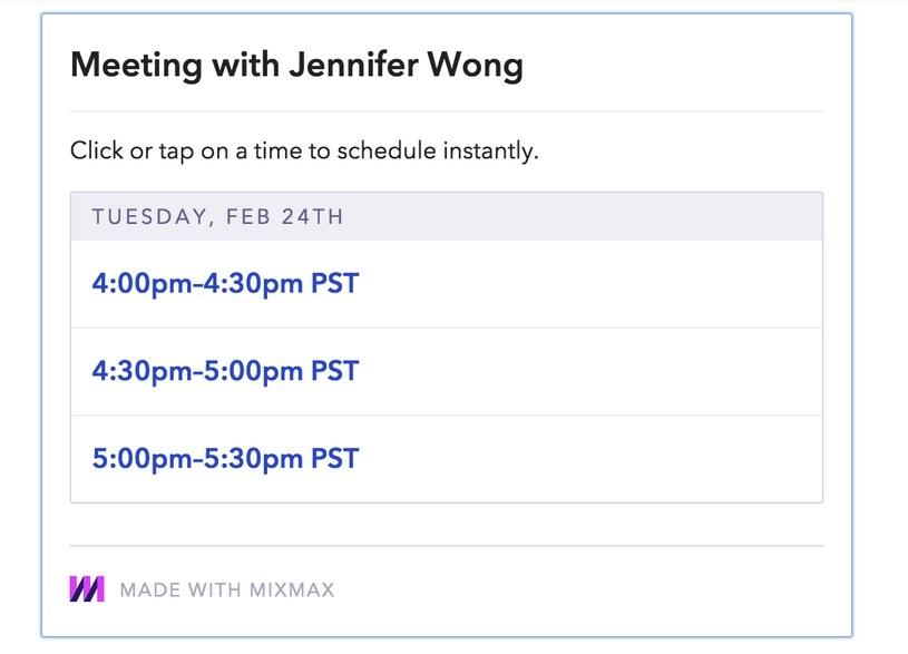 schedule example 2