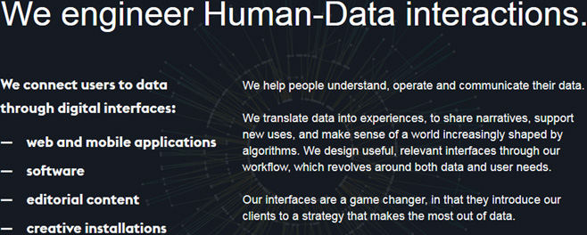 Human Data Interactions