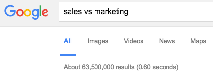 google sales vs marketing