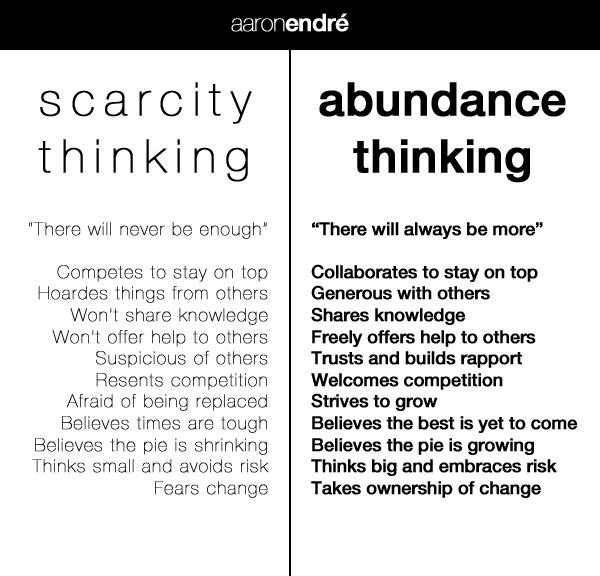 scarcity thinking