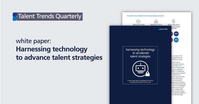 white paper: harnessing technology to advance talent strategies