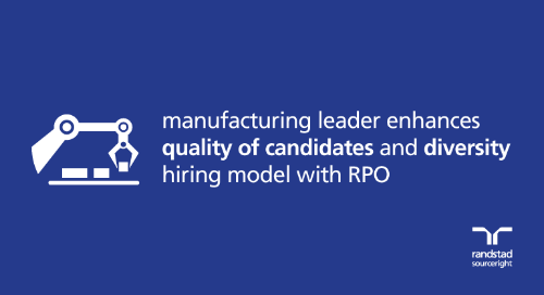 RPO case study: manufacturer enhances quality of candidates and diversity hiring