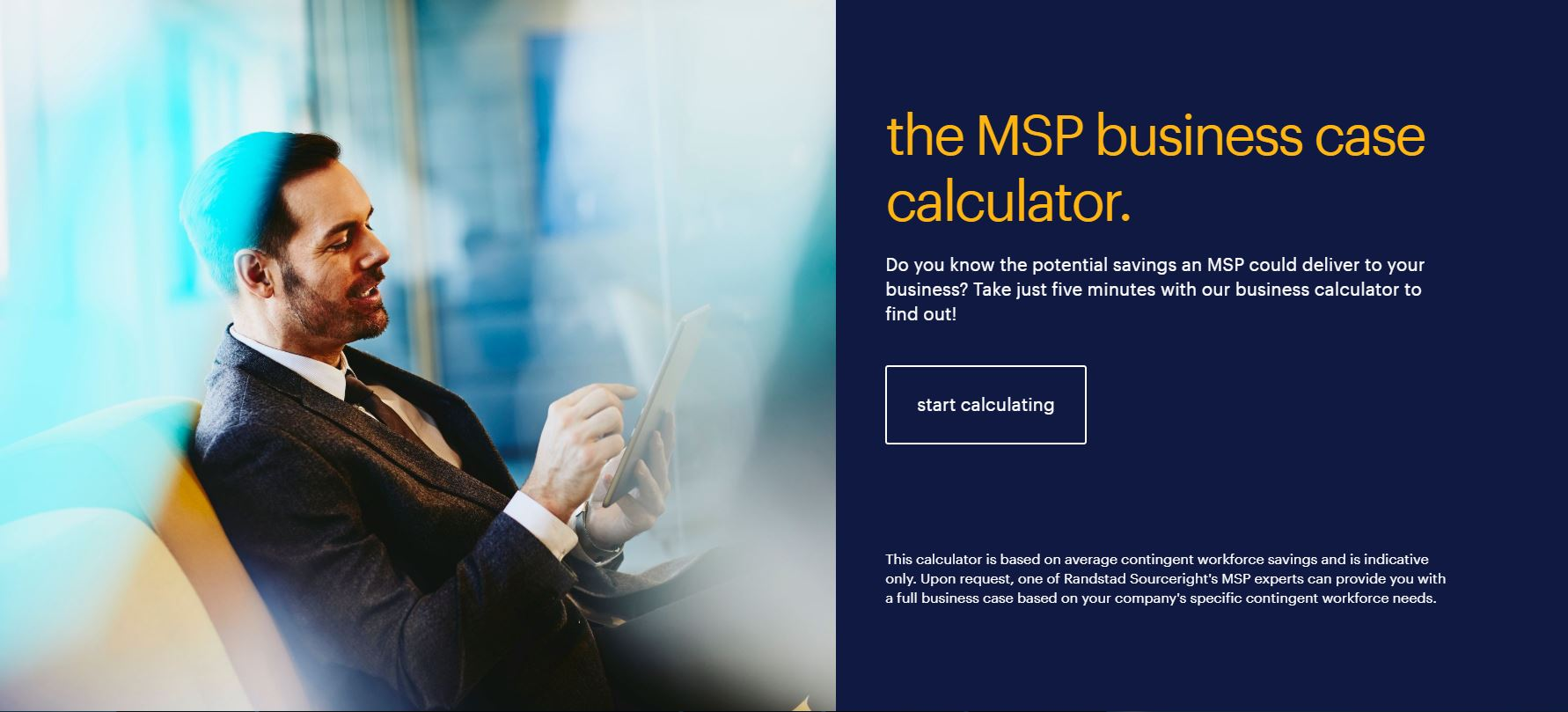 calculate your savings with MSP