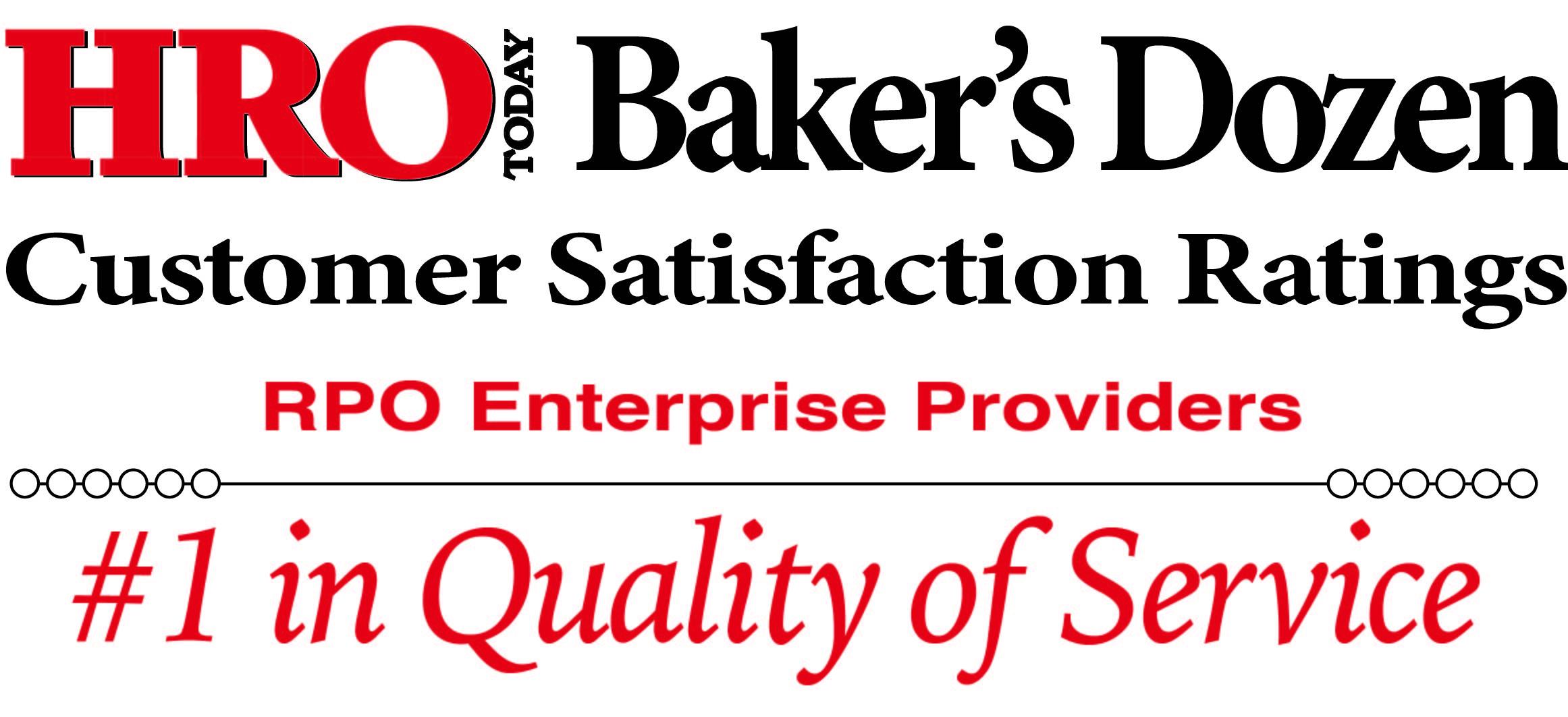HRO Today 2020 RPO Baker's Dozen best RPO companies