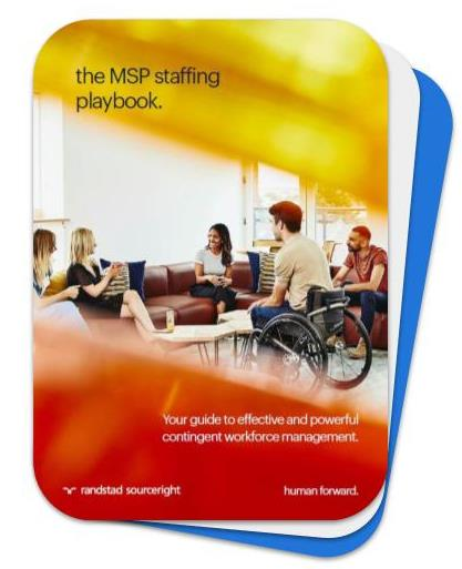 the MSP staffing playbook Randstad Sourceright