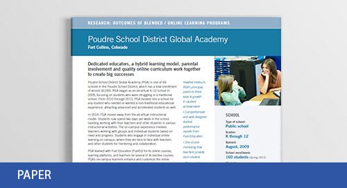 Academic Outcomes: Top-Performing Blended School in Colorado
