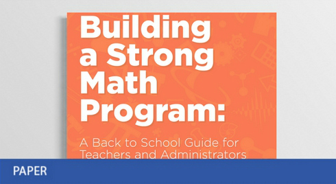 A Guide to Building a Strong Math Program