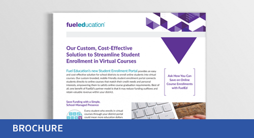 Student Enrollment Portal Flyer