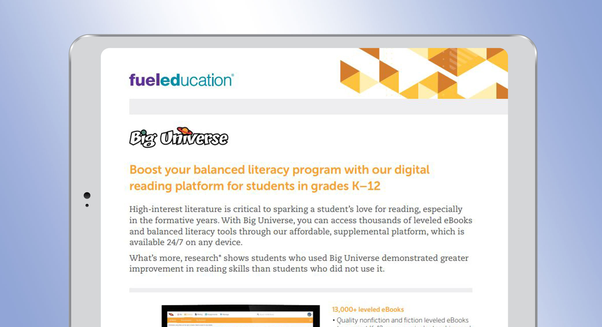 Balanced Literacy Solution Flyer