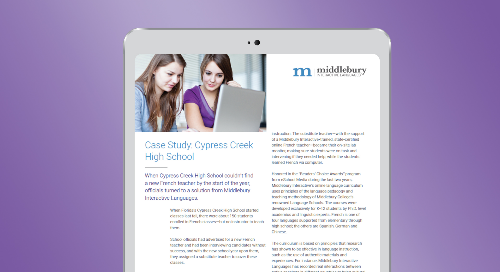 Cypress Creek High School World Languages Case Study