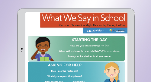 What We Say in the Classroom—A Poster for ELLs
