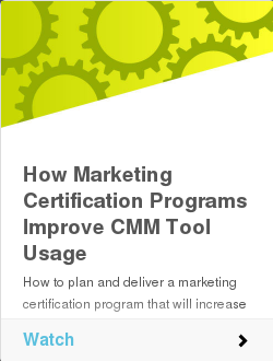 How Marketing Certification Programs Improve CMM Tool Usage