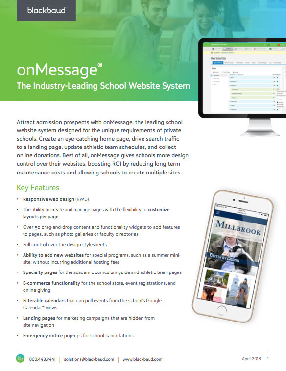 onMessage: Content Management System