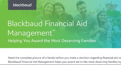 Blackbaud's Financial Aid Management