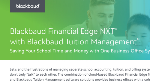Blackbaud Financial Edge NXT with Blackbaud Tuition Management