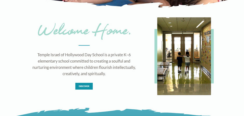 temple isreal school website design