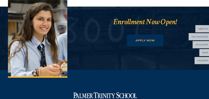 palmer trinity school website example