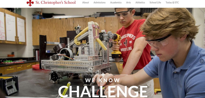 st. christopher's private school website example