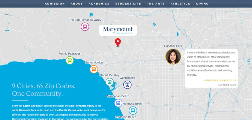 marymount school website example