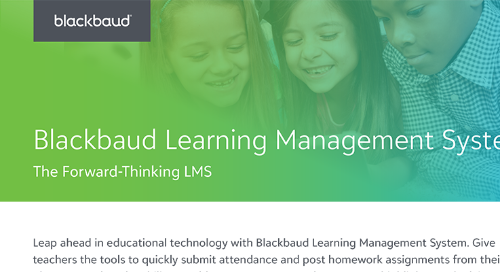 Blackbaud Learning Management System Infosheet