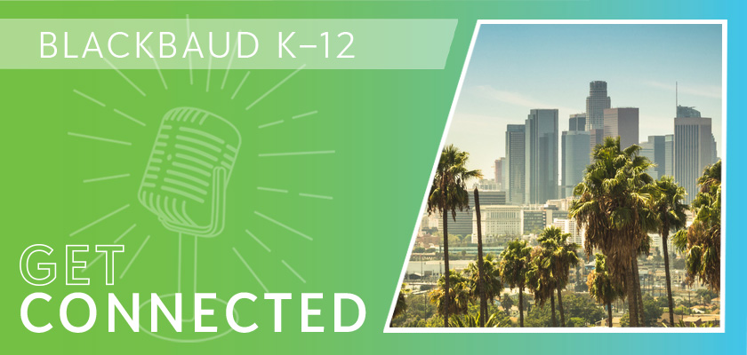 The Get Connected podcast banner graphic with a photo of Los Angeles.