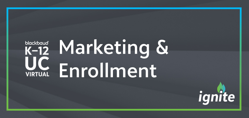 "A banner graphic with the words ""Marketing and Enrollment"""