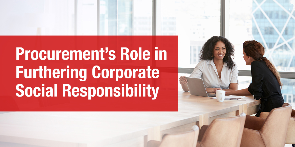 Procurement's Role in Corporate Social Responsibility