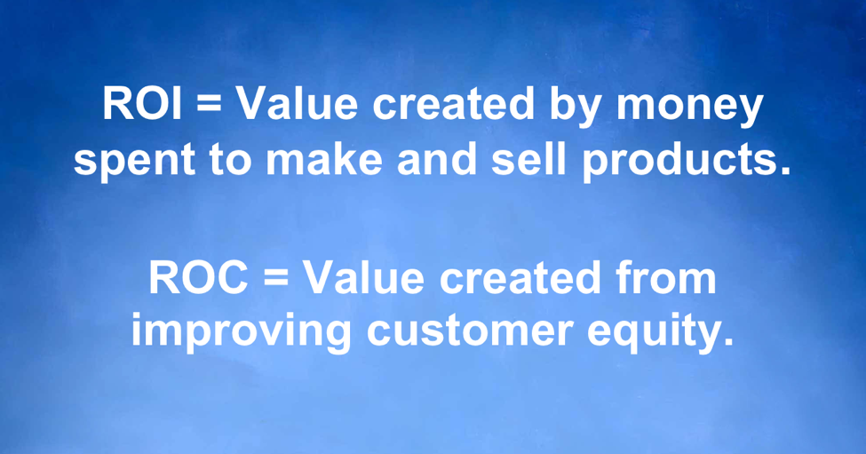 ROC= Value created from improving customer equity