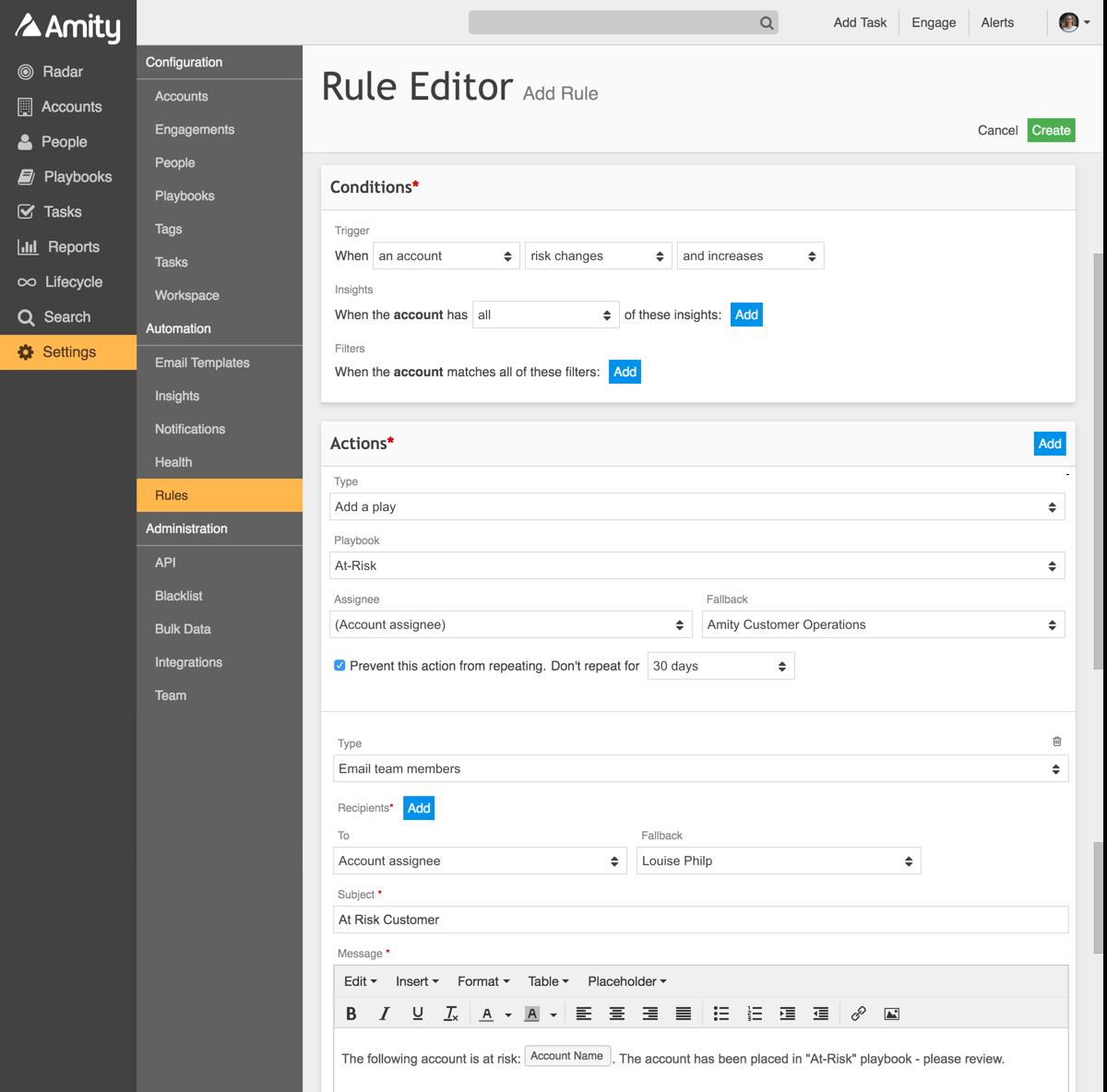 Amity Rule Editor
